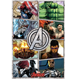 The Avengers - Comic Panels (Poster Maxi 61X91,5 Cm)