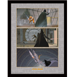 Star Wars - Luke Battles Darth Vader (Stampa In Cornice 30X40 Cm)