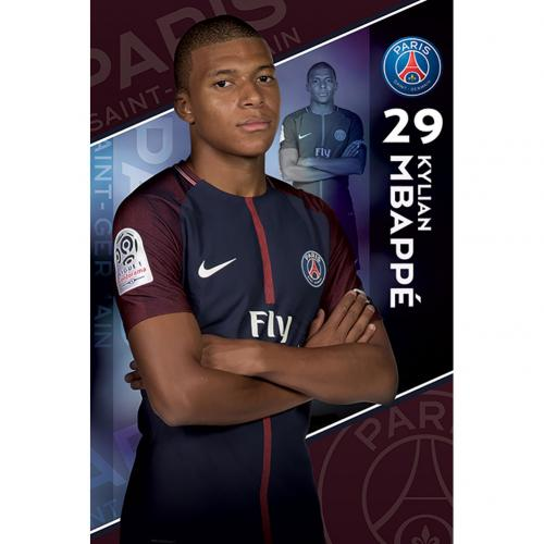 Poster Paris Saint-Germain  Mbappe 19