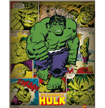 Marvel Comics - Incredible Hulk Retro (Mini Poster 40X50 Cm)