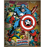 Marvel Comics - Captain America Retro (Mini Poster 40X50 Cm)
