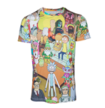 T-shirt Rick and Morty - Printed Allover