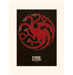 Game Of Thrones (Targaryen) (Stampa 30X40 Cm)
