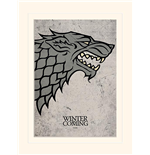 Game Of Thrones (Stark) (Stampa 30X40 Cm)