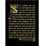 Game Of Thrones - Season 3 - Nightwatch Oath (Stampa In Cornice 30X40 Cm)