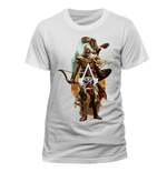 ASSASSIN'S Creed Origins - Character And Eagle (T-SHIRT Unisex )