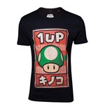 Nintendo - Propaganda Poster Inspired 1-UP Mushroom Black (T-SHIRT Unisex )