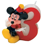 Mickey Party Time - Candelina Numerale N 3