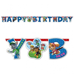Paw Patrol - Scritta Happy Birthday