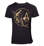 T-shirt ASSASSIN'S Creed Origins - Golden Bayek And Crest Logo Black