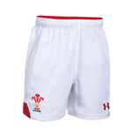 Pantaloncini Short Galles rugby 2018-2019 Home (Bianco)