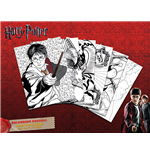 Harry Potter - Hogwarts (Set Poster Da Colorare 30X50 Cm)