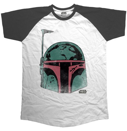 Star Wars - Raglan Baseball Boba Head (T-SHIRT Unisex )