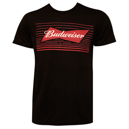 T-shirt Budweiser Red Box Bow Tie Logo