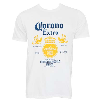 T-shirt Corona Bottle Label