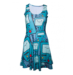Adventure Time - Beemo All Over Printed (vestito Donna )
