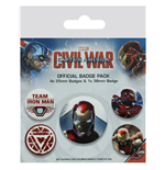 Captain America Civil War (Iron Man) (Badge Pack)
