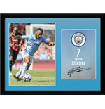 Manchester City - Sterling 17/18 (Stampa In Cornice 30x40cm)
