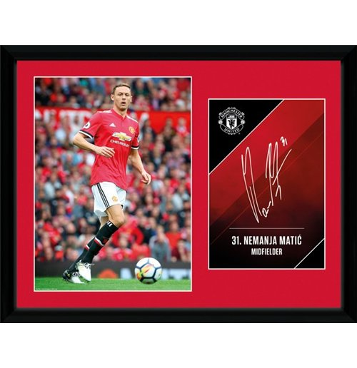 Manchester United - Matic 17/18 (Stampa In Cornice 30X40 Cm)