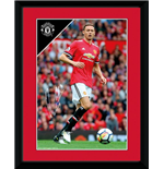 Manchester United - Matic 17/18 (Stampa In Cornice 20x15 Cm)