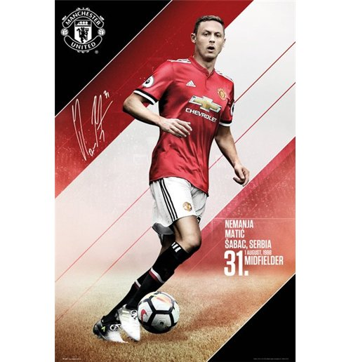 Manchester United - Matic 17/18 (Poster Maxi 61x91,5 Cm)