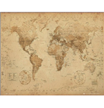World Map - Antique Style (Poster Mini 40x50 Cm)