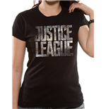 Justice League Movie - Logo (T-SHIRT Donna )