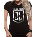 Justice League Movie - Foil Logo (T-SHIRT Donna )