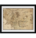 Lord Of The Rings - Map (Stampa In Cornice 20x15 Cm)