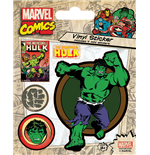 Marvel Comics - Hulk Retro (Set Adesivi 12,5X10 Cm)