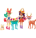 Mattel FDG01 - Enchantimals - Multipack - 2 Bambole Con Coniglietto E Cerbiatto