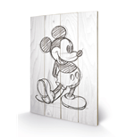 Mickey Mouse - Sketched - Single (Stampa Su Legno 59X40Cm)