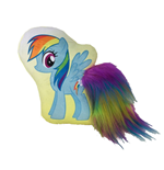 My Little Pony - Rainbow Dash - Cuscino Con Coda In Peluche 30 Cm