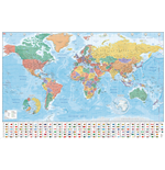 World Map - Flags And Facts (Poster Maxi 61X91,5 Cm)