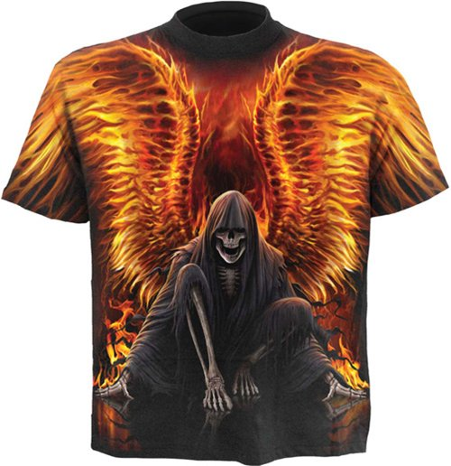 Spiral - Flaming Death - Allover (T-SHIRT Unisex )