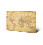 World Map - Vintage Style (Stampa Su Legno 59X40Cm)