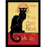 Chat Noir (Stampa In Cornice 30X40 Cm)