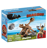 Playmobil 9245 - Dragons - Skaracchio Con Catapulta