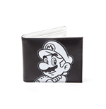 Nintendo - Super Mario Black And White Bifold Black (Portafoglio)