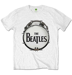 Beatles (THE) - Original Drum Skin White (T-SHIRT Unisex TG. 2)