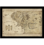 Hobbit (The) - Middle Earth Map (Stampa In Cornice 30X40 Cm)