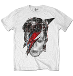 T-shirt David Bowie - Halftone Flash Face