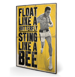 Muhammad Ali - Float Like A Butterfly (Stampa Su Legno 59X40Cm)