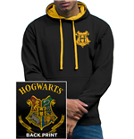 Harry Potter - Colour Crest (felpa Con Cappuccio Unisex )