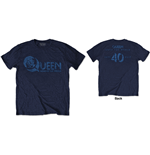 T-shirt Queen - News of the World 40th Vintage Logo