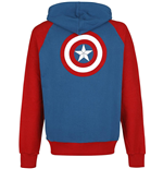 Captain America - Shield Logo Multicolor (felpa Con Cappuccio )