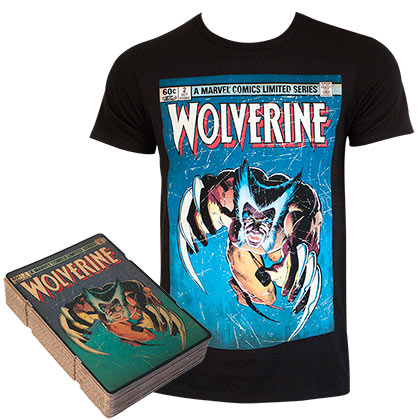 T-shirt Wolverine Comic Cover