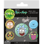 Rick And Morty - Heads (Badge Pack)