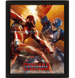 Captain America Civil War - Fight (Poster Lenticolare 3D)