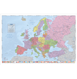 Political Map Of Europe - Flags (Poster Maxi 61X91,5 Cm)